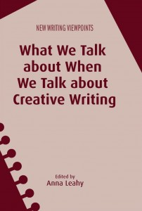 book cover for what we talk about when we talk about creative writing with abstract image of sheet torn out of a notebook