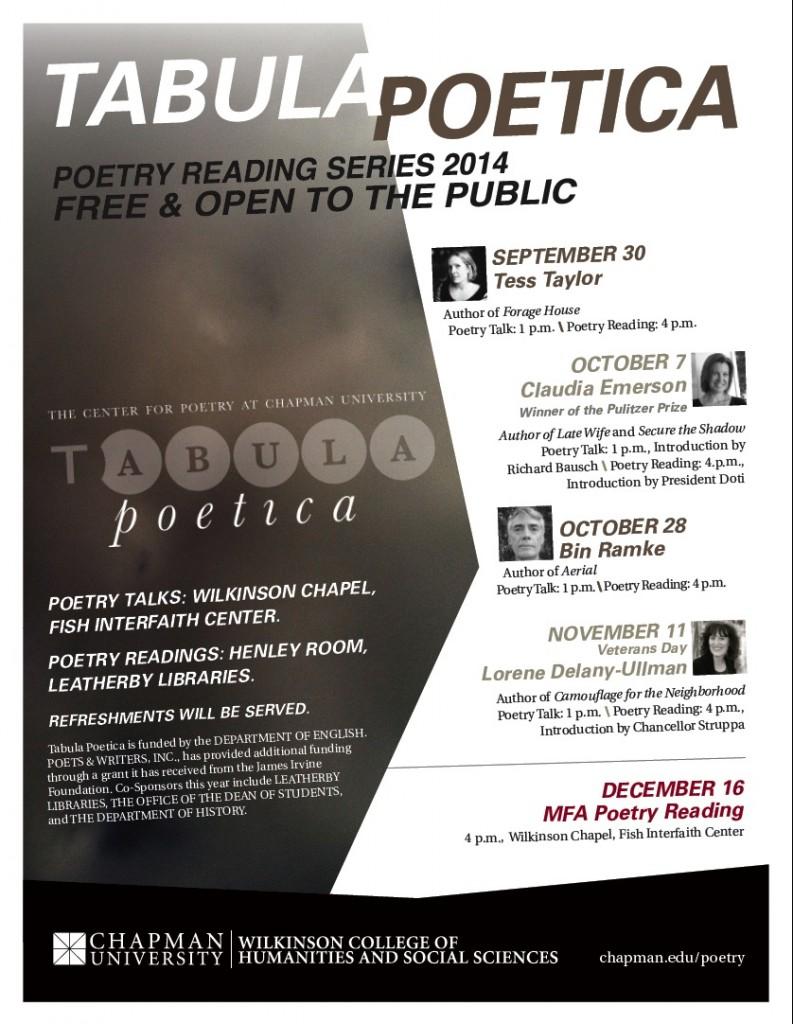 Reading Series Flyer 2014