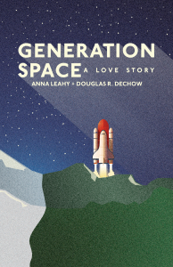 book cover for generation space featuring a graphic of a space shuttle ready for launch