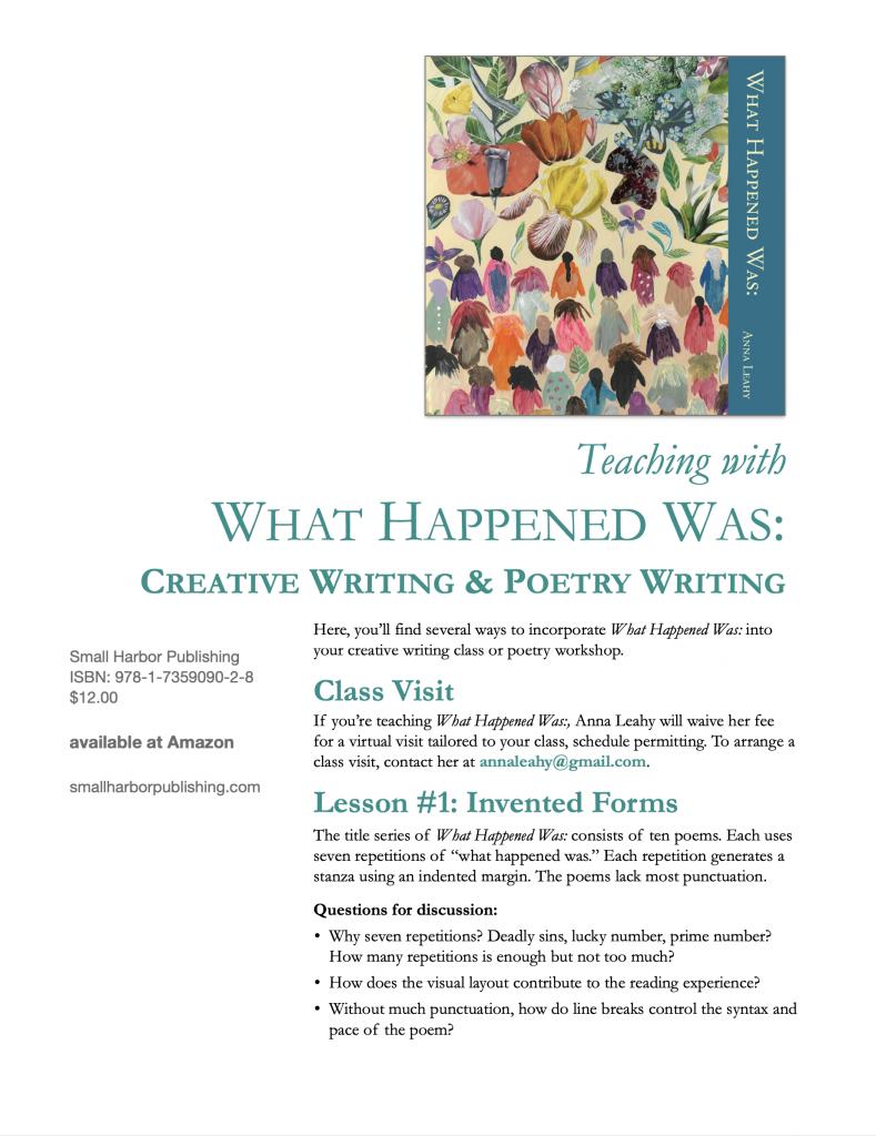 teaching what happened was creative writing